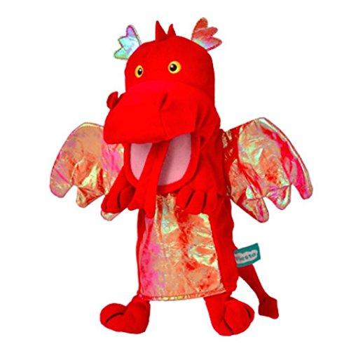 Fiesta Crafts - T-2363 - Marionnettes À Main - Le Dragon - Rouge