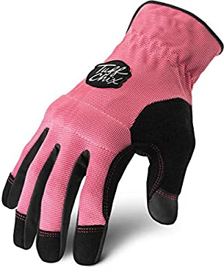 Ironclad Tuff Chix Women's Work Gloves TCX, Designed for Women's Hands, Performance Fit, Durable, Machine Washable, (1 Pair), SMALL - TCX-22-S
