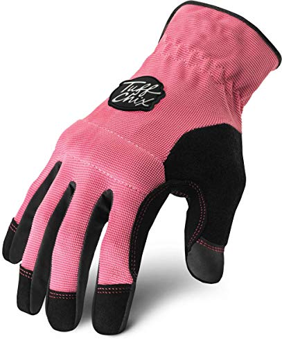 Ironclad Tuff Chix Women's Work Gloves TCX, Designed for Women's Hands, Performance Fit, Durable, Machine Washable, (1 Pair), MEDIUM - TCX-23-M