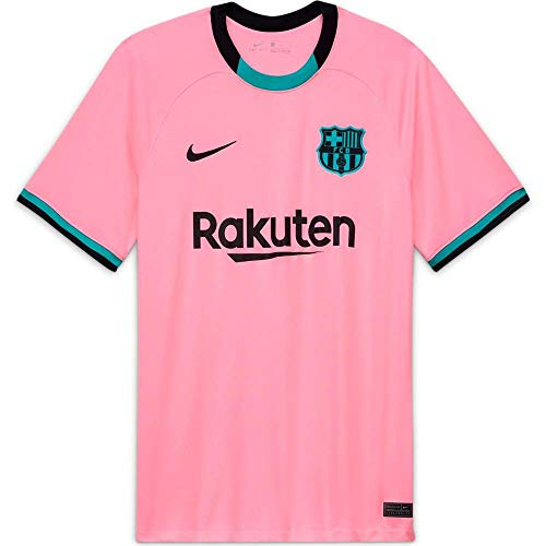 Nike Herren FCB M NK BRT STAD JSY SS 3R T-Shirt, pink Beam/(Black) (Full Sponsor), L