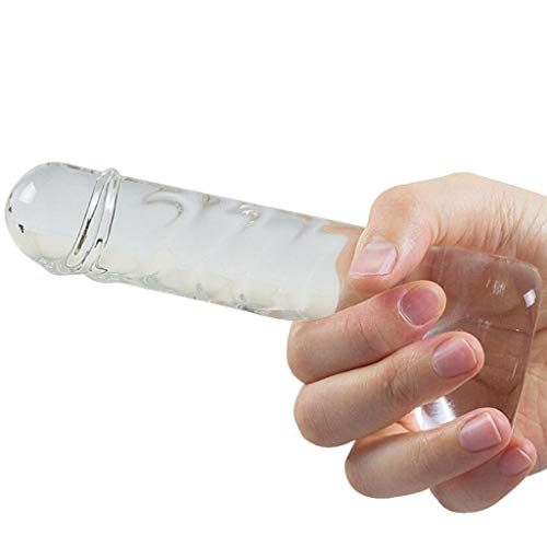 LQZYTY Hand-held Transparent Glass Dildo Female Glass Smooth and Easy to Anal Plug Masturbation Ice Fire Stick Sunglasses T-Shirt