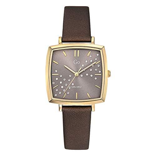 Girl Only - Reloj de pulsera analógico para mujer, color marrón, con correa de piel, UGO699341