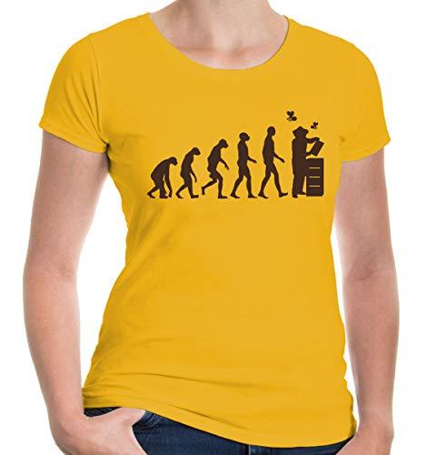 Girlie T-Shirt The Evolution of Beewhisperer-XXL-Sunflower-Brown