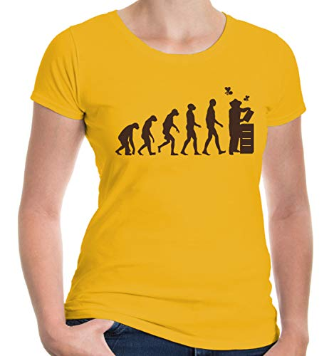 Girlie T-Shirt The Evolution of Beewhisperer-XXL-Sunflower-Brown