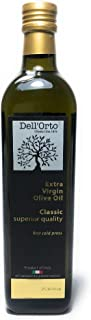 Dell'Orto Italian Extra Virgin Olive Oil (750ml) First Cold Pressed Purity | Everyday Cooking, Salad Dressing, Bread Dipping, Pasta, Soups, Vegetables | International Award-Winning Flavor | Large
