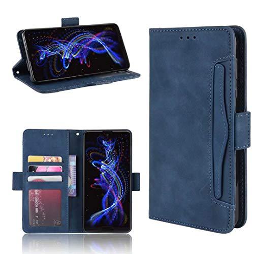 DYIGO Funda para Samsung Galaxy Z Fold3 5G,Funda para teléfono móvil, Funda para teléfono móvil Resistente a arañazos, Golpes y caídas, Textura de Piel Suave y cómoda (Azul)