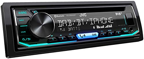 JVC KD-DB902BT - Autoradio DAB+ con CD, vivavoce Bluetooth (processore audio, USB, Android/Apple, Spotify Control, 4 x 50 Watt, colori regolabili), nero