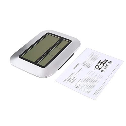 Peanutaso Reloj de Pared Digital de Alta precisión para la decoración de la Oficina en el hogar de Alta precisión con medidor de Temperatura Digital LCD de Temperatura Interior TS-H128Y