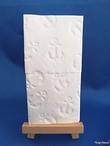 10 geprägte Taschentücher Muster Anker groß, für Hochzeiten, für die Freudentränen