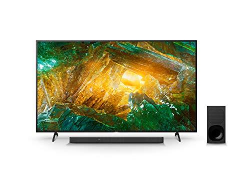 Sony KD-75XH8096 Bravia 190 cm (75 Zoll) Fernseher (Android TV, LED, 4K Ultra HD (UHD), High Dynamic Range (HDR)) Schwarz + 3.1-Kanal-Soundbar mit Dolby Atmos (Surround Sound, Bluetooth) Schwarz