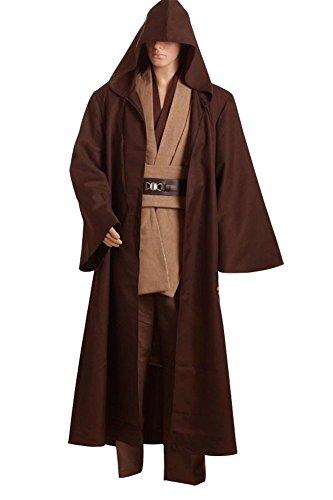 Star Wars Kenobi Jedi TUNIC Cosplay Kostüm Braun Version M