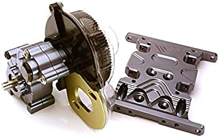 Integy RC Model Hop-ups C24742GUN Billet Machined Main Gearbox w/Metal Gears for Axial SCX-10 Honcho Jeep & Dingo