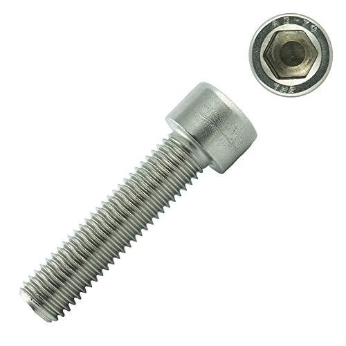 Eisenwaren2000 | Zylinderschrauben mit Innensechskant M8 x 20 mm (50 Stück) - Zylinderkopf Schrauben ISO 4762 - DIN 912 - Gewindeschrauben - Edelstahl A2 V2A- rostfrei
