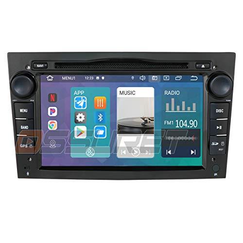 Android 10 Navigazione GPS per auto Bluetooth Veicolo Radio Autoradio 1080P Lettore stereo adatto per Opel Antara Combo Supporto Meriva Signum Android e IOS Controllo del volante a specchio (Nero)