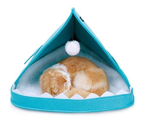 Pet tools schattige vilt kattenmand kennel kennel mand konijn huisdier grot grappige vis-vormige huisdier nest draagbare opvouwbare puppy bed