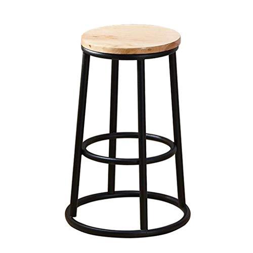 XQAQX kruk metaal eetkamerstoel met houten zitting loft smeedijzer retro restaurant cafe High Stool Stool
