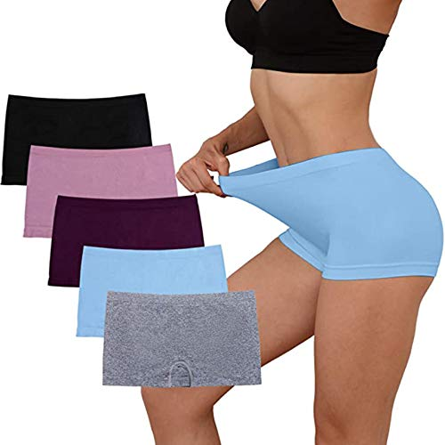 Women Underwear Cotton Plain KnickersBasic Ladies Briefs Multipack Soft Stretch Panties Pack of 5