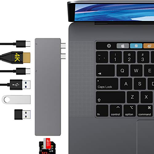 USB C Hub, USB C adapter voor MacBook Pro A-Thunderbolt 3 Hub