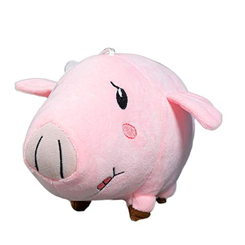 Heionia Pink Pig Plush Anime Figure Doll Collectible Toy Cosplay Stuffed Plushie Nap Pillow for Anime Fans 7.87in(Hawk)