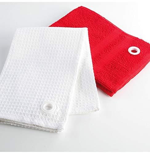 Ligne Décor Lot de 2 Essuie-Mains Uni Coton Rouge 50 x 50 cm