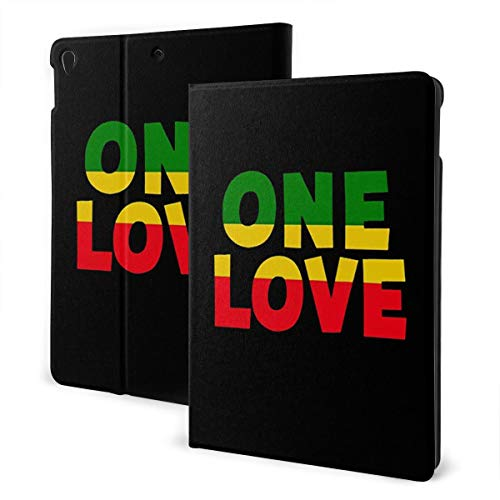 One Love Rasta Colors Case for IPad Air 3 (10.5-inch 2019) and IPad Pro 10.5 Inch Case TPU Protective Stand Cover with Auto Sleep/Wake for IPad Tablet