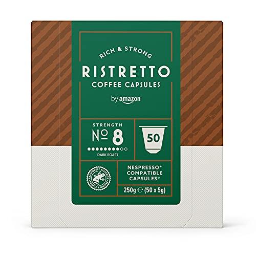 by Amazon Cápsulas Ristretto, compatibles con Nespresso - 50 cápsulas
