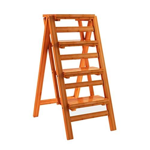 GUOXY Multifunktions-Stufenleiter Mit 4 Folding Tretern, Holzstufenleiter, Hohe Hocker Für Kinder Und Erwachsene, Höhe Der Garten-Werkzeug 92 Cm, Schwerlast 150 Kg