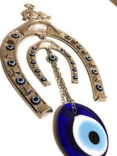 Bion, Horseshoe symbol evil eye wall hanging,...