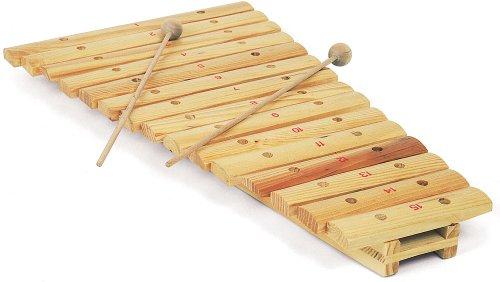 Xylophone en bois de 15 notes avec 2 baguettes