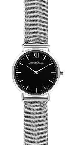Andreas osten Reloj para Mujer Analógico de Cuarzo con Brazalete de Acero Inoxidable AO-132