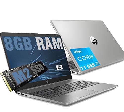 HP i3 250 G8 Silver Portátil LED HD 15.6' CPU Intel Core i3-1115G4 11Th Gen 4,1Ghz / RAM 8GB DDR4 / SSD M2 256GB / Graphic Intel UHD / HDMI RJ-45 WiFi Bluetooth / Windows 10 Pro