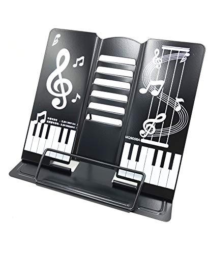 【TSUCIA】かわいい折りたたみ卓上の譜面台 書見台としても 角度調節可能 (黒)