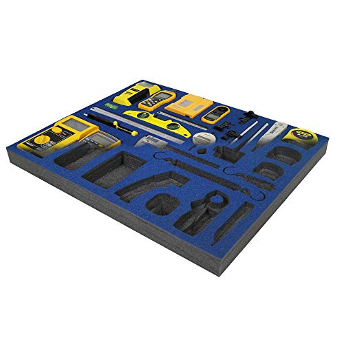 Shadow Foam - Blau - Werkzeugkiste Organisation | Schaumstoffeinlage (50mm)