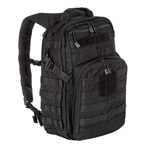 5.11 Tactical Military Backpack - RUSH12 - Molle Bag Rucksack Pack, 24 Liter Small, Style 56892, Black