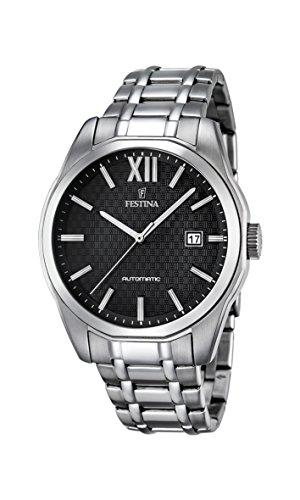 Festina Herren Analog Automatik Uhr mit Edelstahl Armband F16884/4
