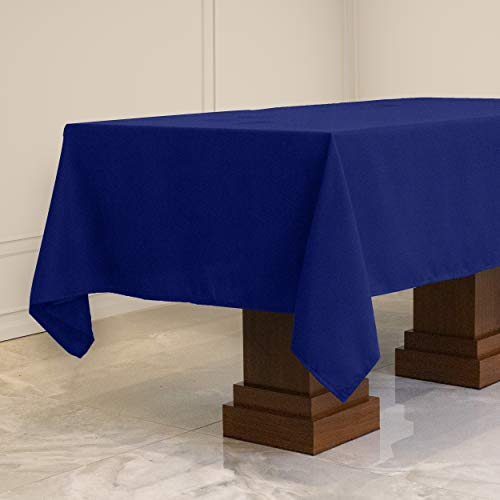 Kadut Rectangle Tablecloth (60 x102 Inch) Royal Blue Rectangular Table Cloth for 6 Foot Table   Heavy Duty Fabric   Stain Proof Tablecloth for Parties, Weddings, Kitchen Wrinkle-Resistant Table Cover
