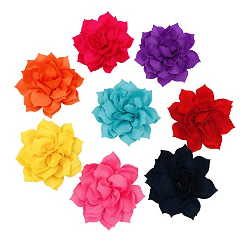 PET SHOW Dog Charms Flower Collar Embellishment Accessories for Cat Puppy Collars Dogs Bowtie Grooming Pack of 8