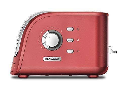 Kenwood TCM300CR 2 - Tostadora ranurada, color rojo