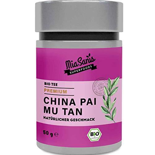 China Pai Mu Tan BIO Tee der Extraklasse von Miasanis® durch seinen hohen Koffeingehalt kannst du den Tee schon als Alternative zum Kaffee trinken - Weißer Tee