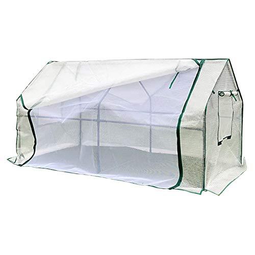 Invernadero Mini Invernadero Portátil con Estructura de Acero, Casa Caliente de La Planta Al Aire Libre Interior para El Vegetal del Tomate de La Sembradora, Múltiples Tamaños, Blanco