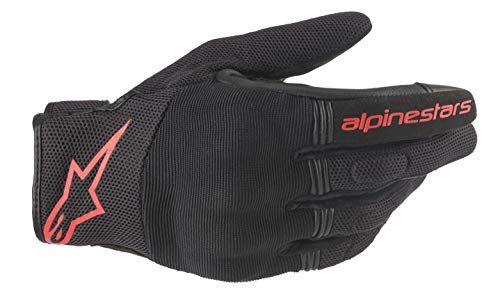 Alpinestars Motorradhandschuhe Copper Gloves Black Red Fluo, BLACK/RED/FLUO, S