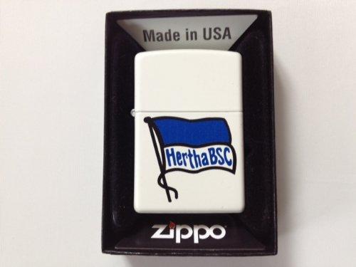Zippo 27.2810 Feuerzeug Hertha BSC Berlin White Matte Fahne