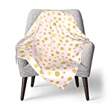 Manta para bebé Manta para bebé, Luxe Rose Gold Polka Dots Pattern Seamless...