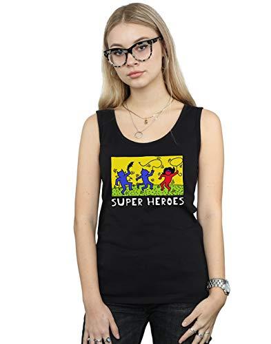 DC Comics Mujer Batman Pop Art Camiseta Sin Mangas Negro XX-Large