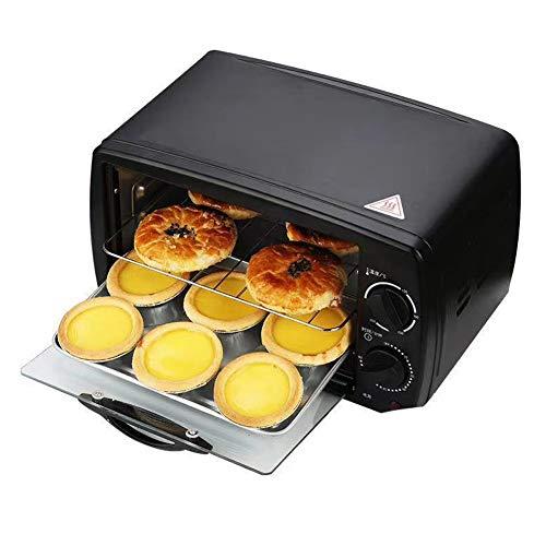 EnweLampi Mini-Ofen 12L Elektroofen, Toaster-Sandwichofen, 3 Backfunktionen (Trocknen, Backen Und Fermentieren), Mit Nachheiz-Abtau-Abbrechen-Funktion, Mit Automatischer Abschaltfunktion 800W