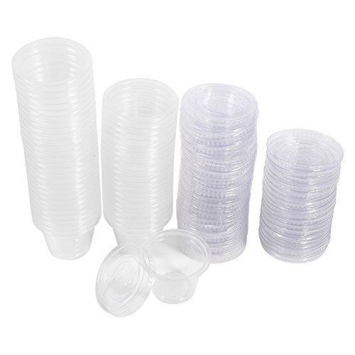 50 stks/partij Plastic Sauce Cups, 1 oz 2 oz 4 oz Food Grade PP Kruiden Cup Wegwerp Tasting Cup Salade Saus Take-Out Opslag Beker