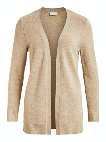 Vila Clothes Damen VIRIL L/S Open Knit Cardigan-NOOS Strickjacke, Nomad, Detail:Melange, S
