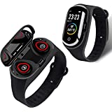 Rstar M1 PRO Bluetooth Headset Smart Bracelet Two-in-One 1.14 inch Screen Multi-Function Call Bracelet Health Monitoring Sports Bracelet Activity & Fitness Trackers (Blue)
