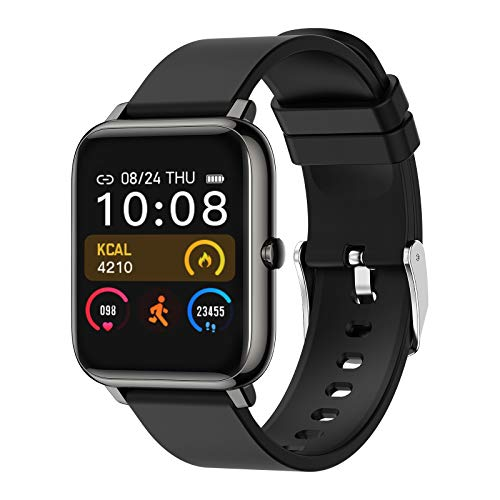 Smart Watch Donna Uomo, Bozlun Smartwatch Orologio Sport GPS Cardio Fitness Activity Tracker Pedometro Calorie, Smarwatch Impermeabile IP67 per Android IOS (Nero)