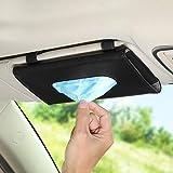 Visor Mask Holder for Car TOOVREN Car Tissue Holder Visor Mask Dispenser for Car Visor Backseat Premium Leather Mask Visor Holder for Car Wipes Case for Car Sun Visor Tissue Holder (Black)
